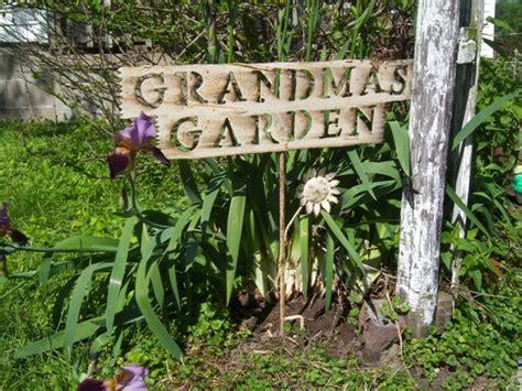 Grandmas Garden by S Garden Tin Yard Signs Rustic Iron Sign
