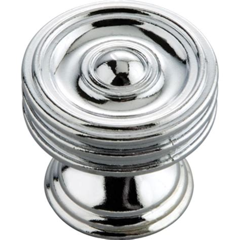 chrome kitchen cabinet knobs hickory hardware concord 1 1 4 in chrome cabinet knob
