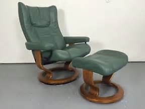 ekornes stressless leather recliner chair ottoman medium