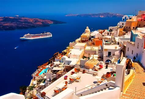 desktop themes greece santorini wallpapers wallpaper cave