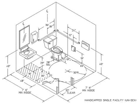 handicap bathrooms specifications ada public restroom size shawnee pacific construction
