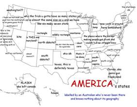 Us State Map Labeled by A Funny Map Of The United States As Labeled By An Australian