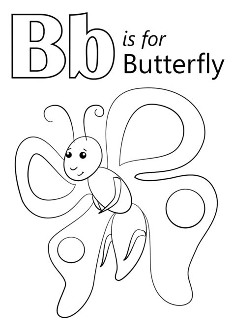 butterfly coloring page education com letter b is for butterfly coloring page kids education