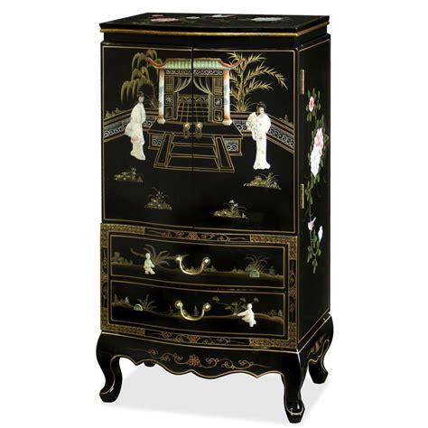 oriental jewelry armoire 25 beautiful black jewelry armoires zen merchandiser