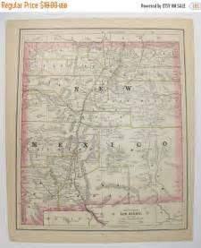 vintage colorado map antique 1886 new mexico map colorado vintage by