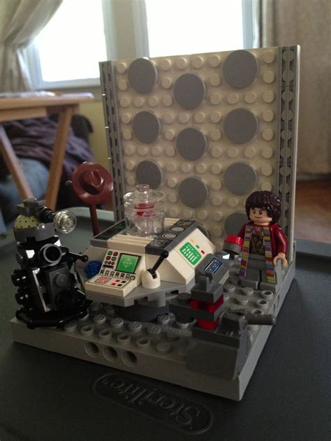 how to build a tardis console room diy lego doctor who the 4th doctor k9 a dalek and the tardis console room lego