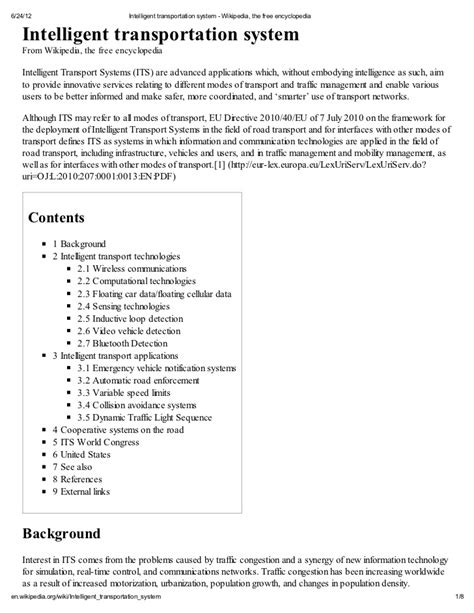 Essay For Transportation by Essay About Intelligent Transportation Systems Nccpa Review Book