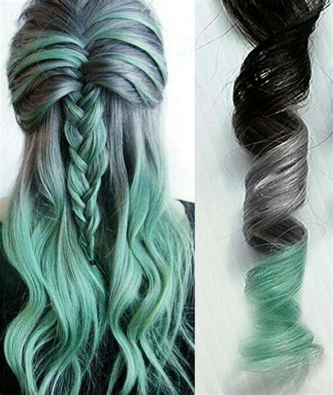 mint green hair color mint green ombre hair www pixshark images