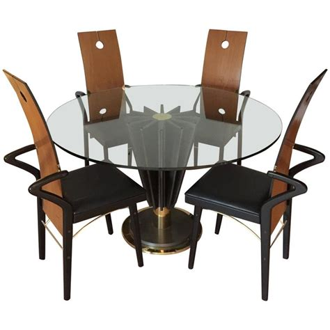 Cast Iron Dining Table And Chairs Cardin Cast Iron And Brass Dining Set Table And Four Chairs For Sale At 1stdibs