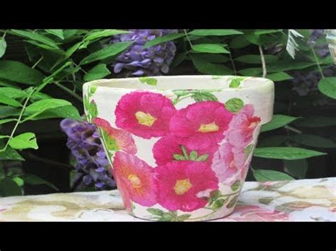 how to decoupage and weather proof a clay pot doovi