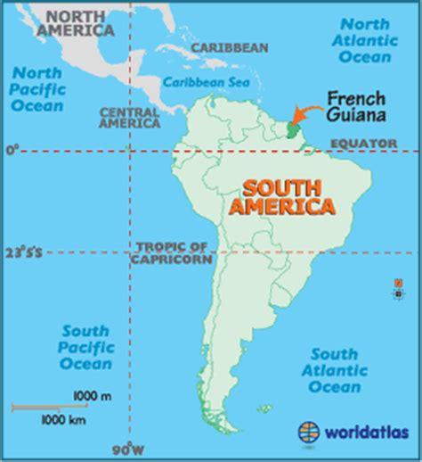 guiana map geography of guiana map of