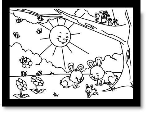 imagenes para pintar sobre la primavera infantiles im 225 genes de primavera para colorear y