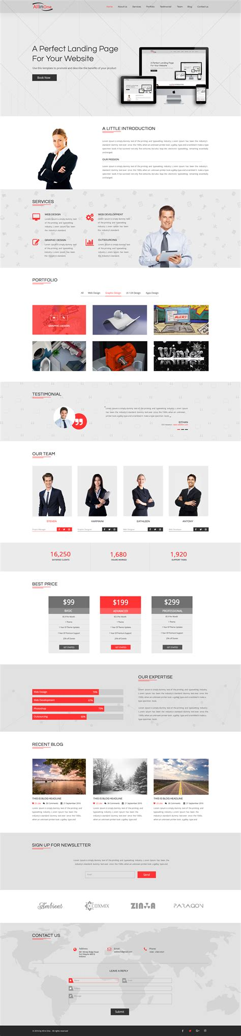 one page landing page template all in one multi purpose one page landing page website