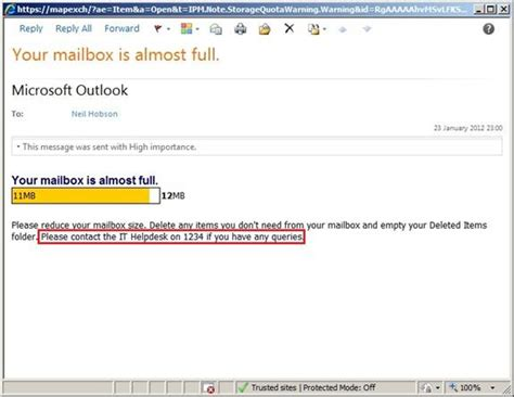Office 365 Your Mailbox Is Almost A Question Of Quotas In Exchange Server 2010 Part 2