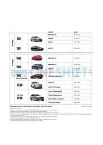 Volvo Price List Singapore Volvo Singapore Printed Car Price List Oneshift