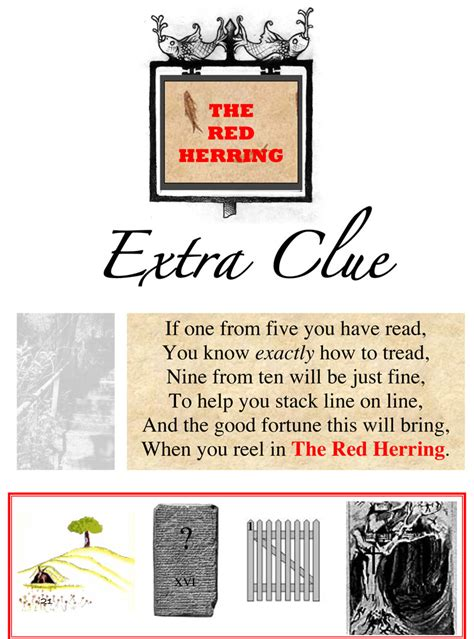 Armchair Treasure Hunts The Armchair Treasure Hunt Club The Red Herring Extra