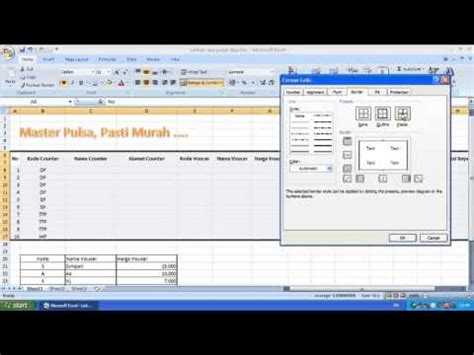 tutorial latihan excel 2007 gabungan beberapa fungsi dalam satu latihan pada microsoft