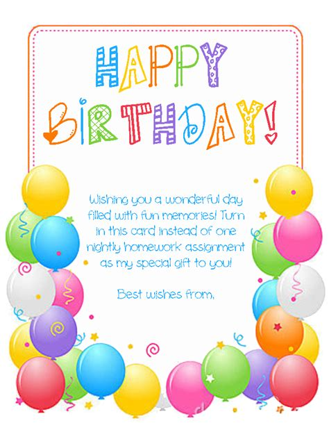 class bday card template birthdays at school squarehead teachers
