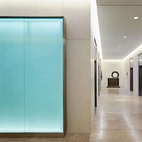 Glass Wall L Backlit Recycled Glass Feature Walls Masdar City Gpi