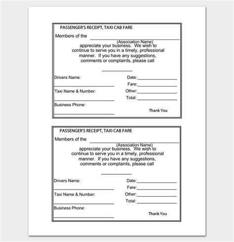 Car Hire Receipt Template by Rent Receipt Template 9 Forms For Word Doc Pdf Format