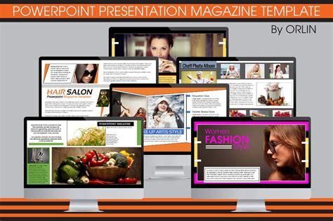 Powerpoint Magazine Template Presentation Templates On Creative Market Magazine Powerpoint Template