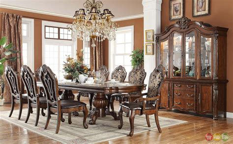 formal dining room furniture sets opulent traditional style formal dining room furniture set
