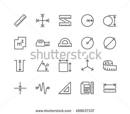 Outline Offset Radius by Simple Set Measure Related Vector Line Stock Vector 488637337