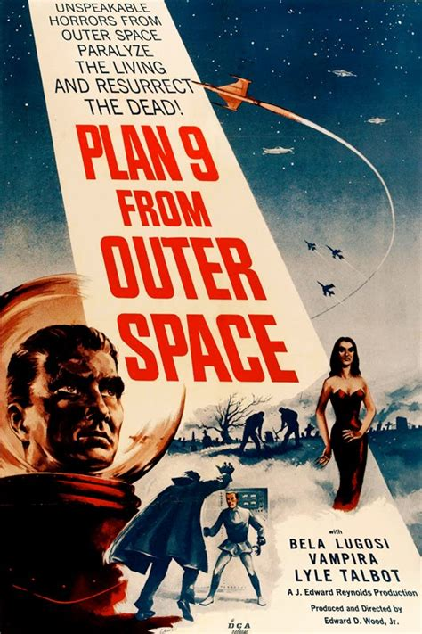 printable movie poster plan 9 from outer space sci fi movie vintage poster