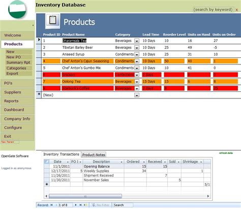 desktop services template for access 2010 ms access inventory management it management solutions