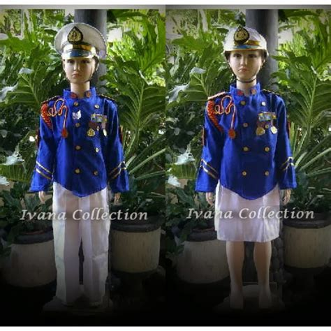 Baju Setelan Tni Anak Zt9549 jual baju daerah profesi pesta dan mahkota hiasan rambut baju tni ad baju profesi