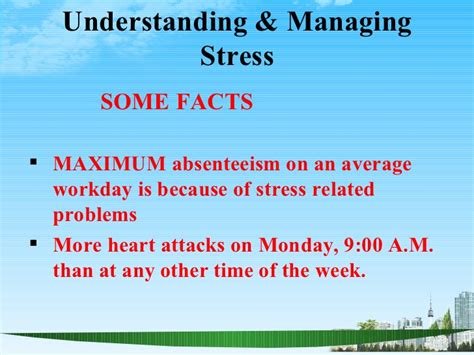 Mba Is Stressful by Managing Stress Ppt