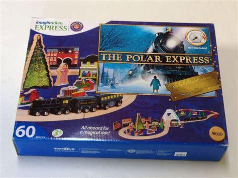 brio polar express train set nib imaginarium polar express wood holiday train set