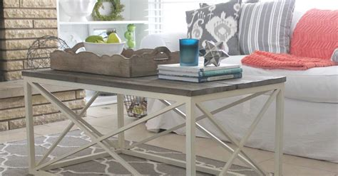 white modern farmhouse coffee table