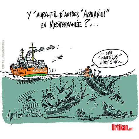 dessin bateau route du rhum apr 232 s l aquarius un nouveau bateau de migrants attend un