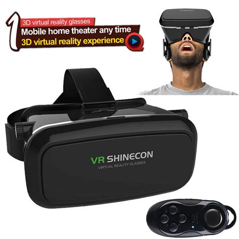 Vr Cardboard Third Generation Leather Mount 3d Reality 5 goggles cardboard 2 0 3d vr box reality glasses bluetooth remote ebay