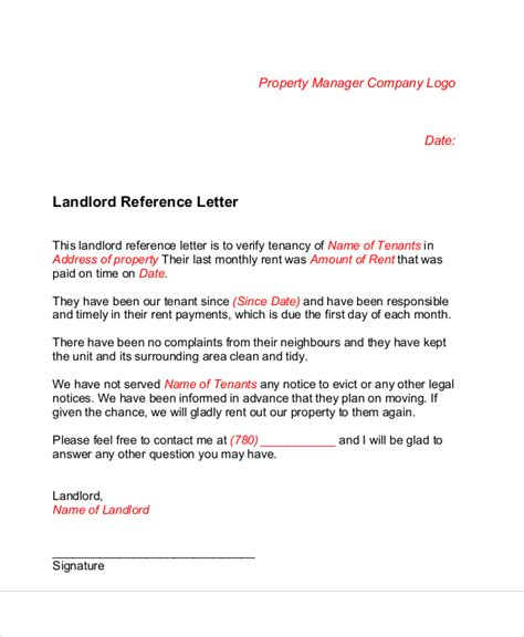 Landlord Reference Letter Exle Ireland landlord recommendation letter uk 28 images letter of