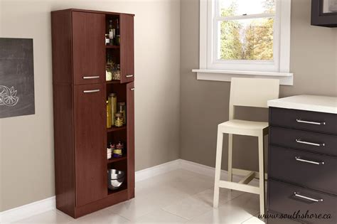 trendy two sided portable pantry closet on black wheels