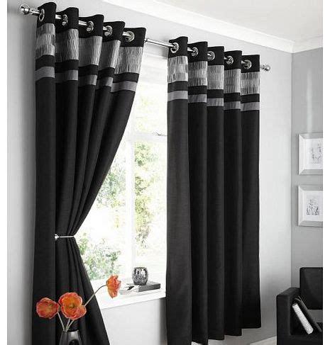 black grey curtains opulence