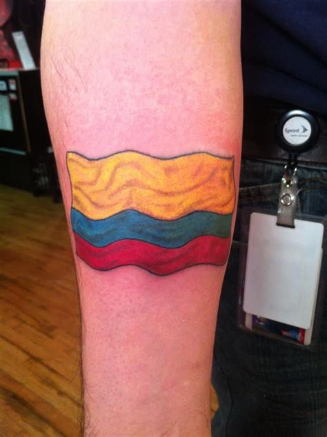 colombian tattoos quot flag quot done by brock samson yelp