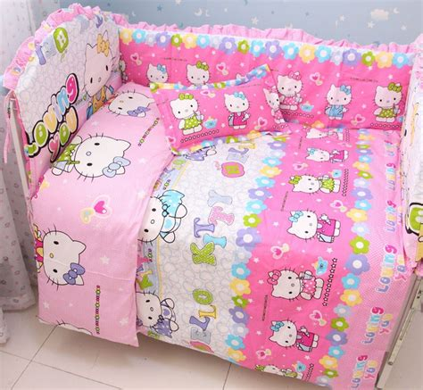 hello kitty baby bedding discount 6pcs hello kitty baby bedding set boy baby bumper cradle cot linen include