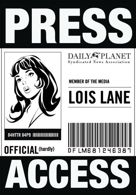 press badge template free daily planet press badge template www imgkid the