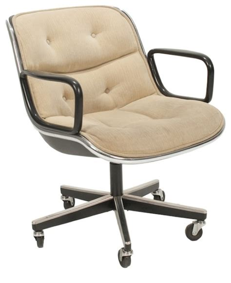 consigned mid century modern desk chair by charles pollock