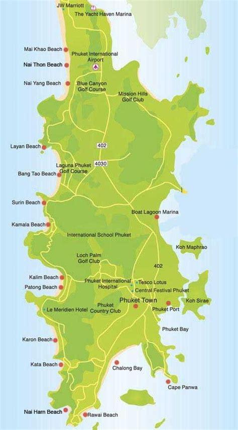 phuket beaches map phuket honeymoon phuket thailand
