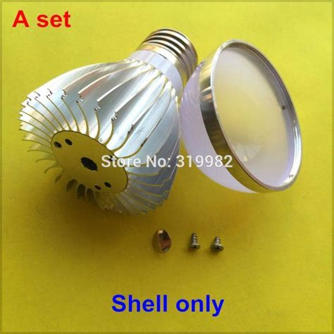 Set Pcb Hpl 1w Warm White Heat Sink Putih 1 W Heatsink High Power Led 10 sets led l shell kit 5w aluminum heat sink silver