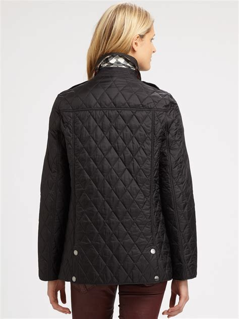 Burberry Brit Jacket Quilted by Burberry Brit Pirmont Quilted Jacket In Black Lyst