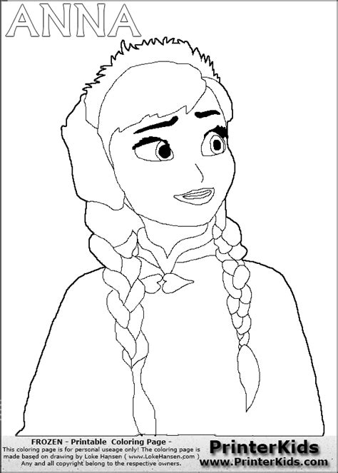 frozen coloring pages just anna 10 images of princess anna frozen coloring pages