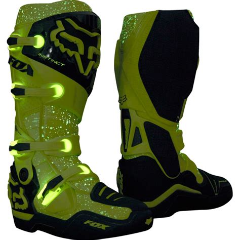 yellow motocross boots fox 2016 instinct foxborough sx limited edition mx boots