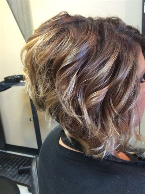 stacked permed hairstyle best 25 curly stacked bobs ideas on pinterest short