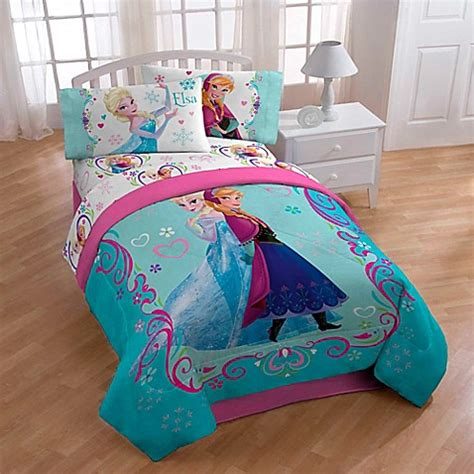 frozen bedding set twin buy disney 174 frozen springtime twin full floral comforter from bed bath beyond