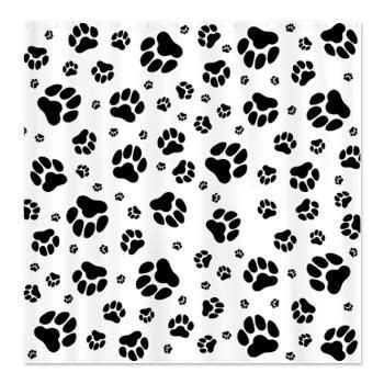 paw print shower curtain dog paw print shower curtain dog birthday theme pinterest